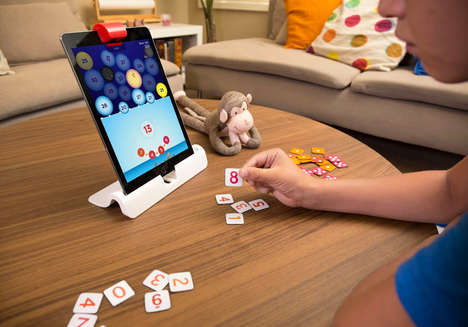 Math-Teaching Computer Games - Osmo Designed 'Numbers' as a Tactile iPad Game That Teaches Kids Math