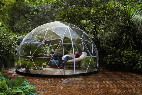 Relaxing Garden Igloos - This Greenhouse Garden Canopy Lets You Enjoy the Outdoors Year-Round