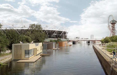 Floating Housing Units - These Amphibious Abodes Aim to Solve the Housing Crisis in London