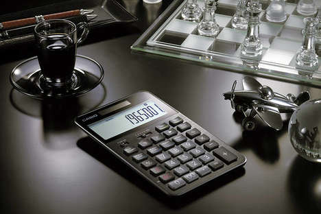 Low-Tech Luxury Calculators - This Casio Calculator Offers Sleek, Classic Design Rather Than Apps