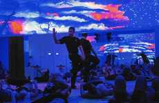 Immersive Yoga Studios - 'Yogascape' Classes at Earth's Power Yoga Blend Technology and Yoga
