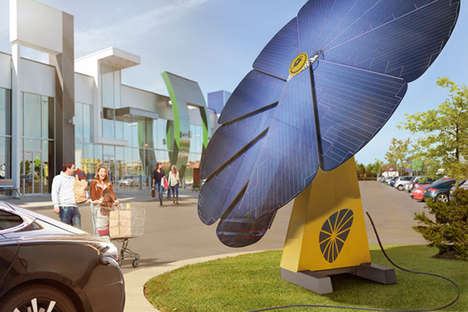 Solar Car Chargers - The 'Smartflower POP-e' Creatively Provides Clean Energy for Electric Cars