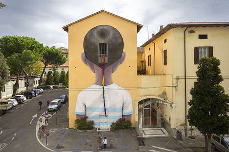 Mind-Escaping Murals - This Street Art in Arezzo, Italy Tells the Viewer to Step Outside Themselves