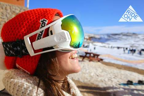 Augmented Snowboarding Goggles - The RideOn Goggles Helps Navigate the Slopes with Smart Projections