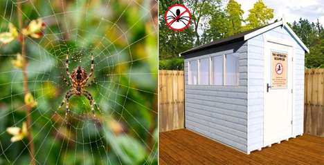 Spider-Proof Sheds - This Garden Shed is Perfect for Anyone Suffering from a Case of Arachnophobia