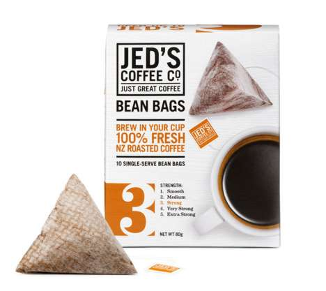 Coffee-Steeping Bags - Jed's Bean Bags Make Brewing Coffee Like Steeping a Tea Satchel