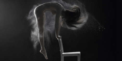 Powdered Body Portraits - These Images Display Elegant Movements of the Human Body Using White Dust