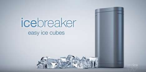 Twistable Ice Cube Dispensers - The 'Icebreaker' Dispenses Perfect Ice Cubes with a Simple Twist