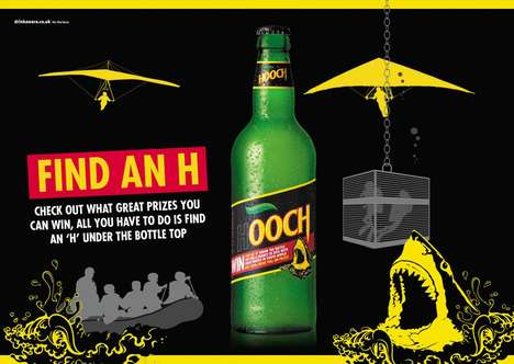 "Experiential Brew Contests - Hooch's Drinking Campaign Urges Consumers to Hunt for an ""H"""