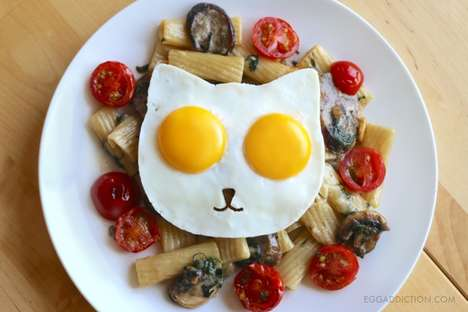 Cat-Shaped Egg Molds - This Feline-Inspired Breakfast Mold Transforms Eggs into a Fun Animal Shape