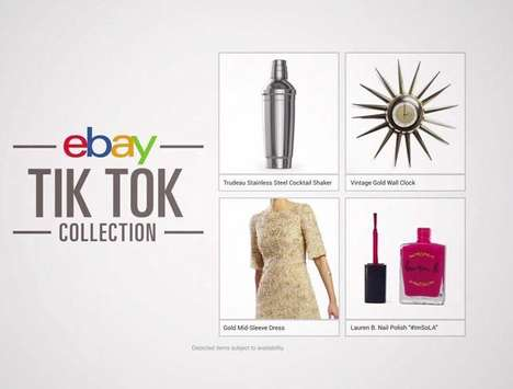 Lyrical Online Shopping Ads - This New Ad for eBay Incorporates Lyrics from 'Tik Tok' by Ke$ha