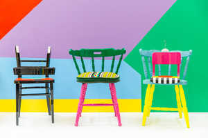 These Afrian-Themed Chairs Feature Vibrant Colors and Upcycled Materials