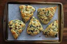 Healthy Kale Scones - These Veggie Scones Make a Delicious Snack Featuring Pecorino Cheese