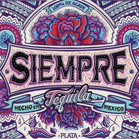 Folk Art Tequila Branding - Siempre Tequila is a New Craft Spirits Brand with Dynamic Packaging