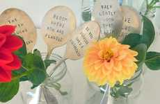 Vintage Spoon Indicators - The Spoon Flower Creates Endearing Gardening Markers Out of Old Flatware