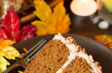 Spiced Autumnal Cakes - This Homemade Apple Cinnamon Cake is Decorated with a Cream Cheese Frosting