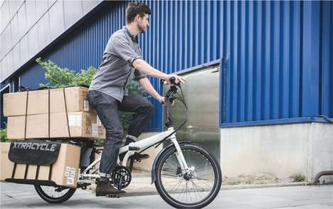 Foldable Cargo Bicycles - The Cargo Node Bike is Able to Fold Up When it Needs to Be Portable