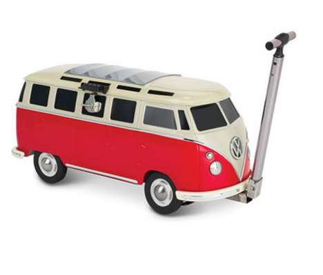 Miniature Motorhome Coolers - This Beverage Cooler Design Cleverly Looks Like a Retro Volkswagen Van
