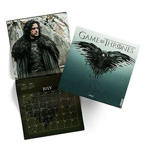 Wintery Fantasy Calendars - This Game of Thrones 2016 Calendar Design Celebrates the Wall