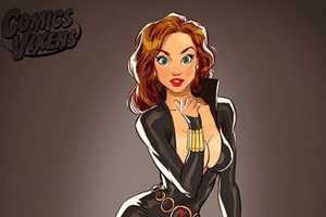 Andrew Tarusov Re-Imagines Superheroes as Elegant Pin-Up Girls