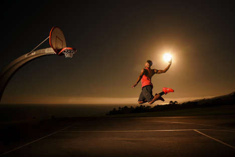 Illusory Solar Photoshoots - The Pelicans' Anthony Davis Plays Ball with the Sun in These Photos