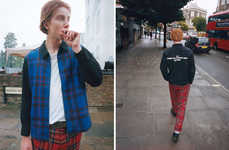 Rebellious Plaid Menswear - This Comme des Garcons x Supreme Collection Draws on UK Punk Subculture