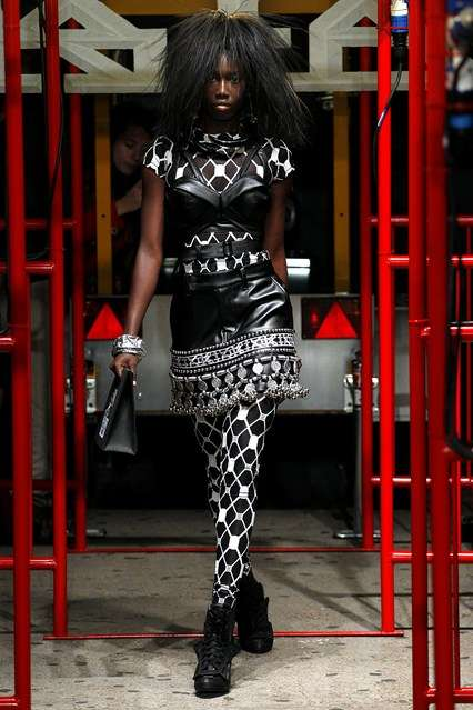 Edgy Club Couture - The KTZ Spring/Summer Collection Dresses Club Kids in Avant-Garde Rocker Looks