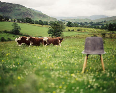 Sustainable Woolen Furniture - This Furniture Line Uses Sheep Wool to Form a Solid Piece of Material