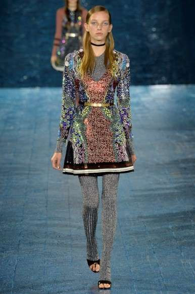 Contemporary Folkloric Fashion - The Mary Katrantzou Spring Line is a Modern Take on Nomadic Fashion