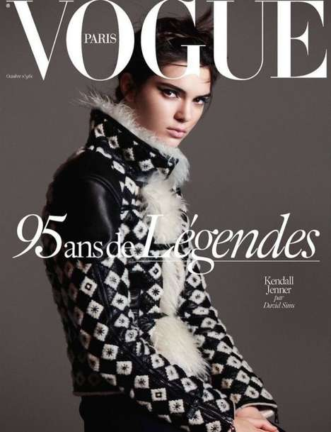 Celebratory Iconic Model Covers - Vogue Paris Commemorates its 95th Anniversary with Four Top Faces