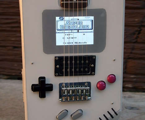Retro Gamer Guitars - The 'Guitar Boy' is a Hybrid Electric Guitar and Nintendo Game Boy