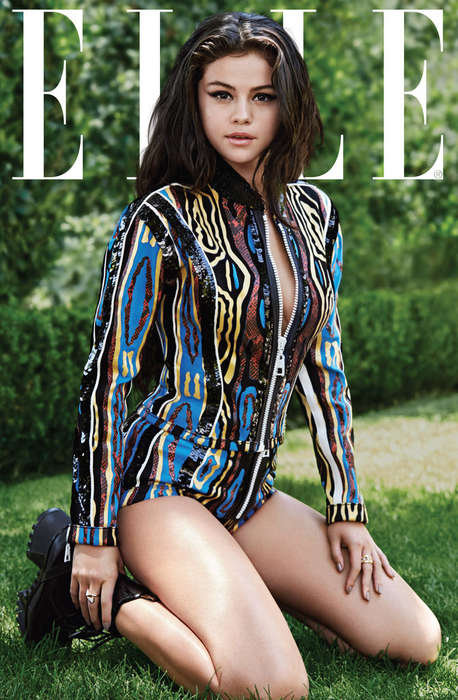 Tribal Songstress Covers - Singer Selena Gomez Poses for Elle in Aztec Prints and Bold Animal Print