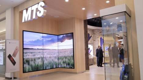 Interactive Telecommunication Displays - This Store Includes Hands-On Demonstrations of New Products