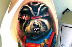 Disguised Sloth Tattoos