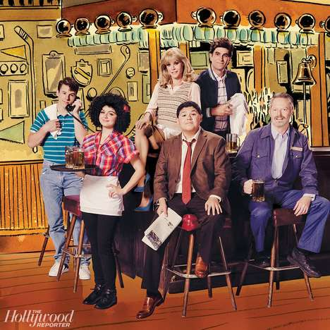 Television Family Remakes - The Cast of Modern Family Recreates the Looks of the Iconic Cheers Cast