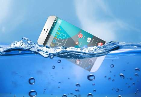 Buoyant Waterproof Phones - The 'Comet' Device Boasts Floating Capabilities When Submerged in Water