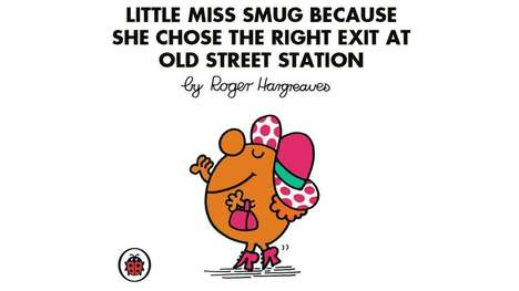 British Book Characters - Robin Edds Illustrates Mr. Men and Little Miss Characters as Londoners