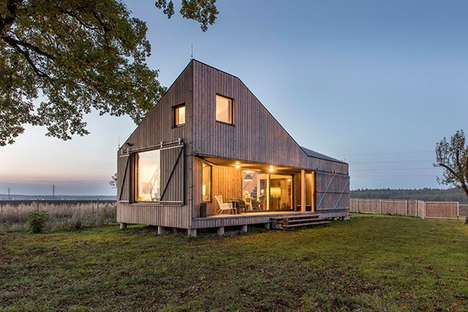 Low-Energy Bohemian Abodes - This Uniquely Shaped Wooden Bohemian House is Compact and Cozy