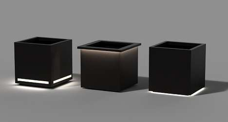 Modern LED Planters - These Garden LED Accessories Illuminate Outdoor Spaces