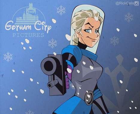 Gotham-Disney Hybrid Illustrations