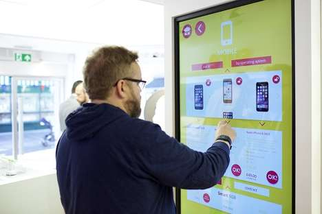 Consumer-Made Phone Plans - This 'Sure' Store Lets Consumers Build Phone Plans on Huge Touch Screens