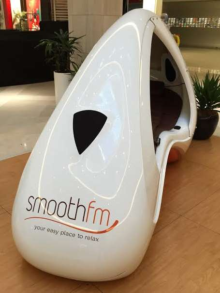 Relaxing Radio Pods - These SmoothFM Booths Provide Consumers with Five Minutes of Daily Relaxation