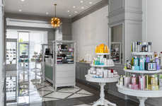 Vanity-Inspired Beauty Displays - The Cloche Beauty Boutique Boasts Baroque Furniture Displays