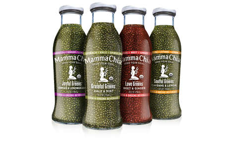 Hybrid Superfood Beverages - Mamma Chia's 'Chia & Greens' Beverages Combine Potent Superfoods