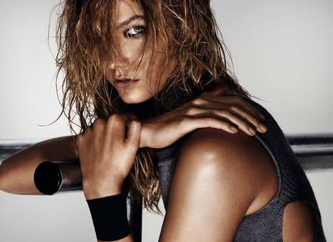 Futuristic Workout Editorials - Top Model Karlie Kloss Looks Glowy and Sporty Chic for Mario Testino