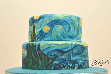 Famous Painting Cakes - Artist Maria A. Aristidou Transforms Desserts into Popular Works of Art