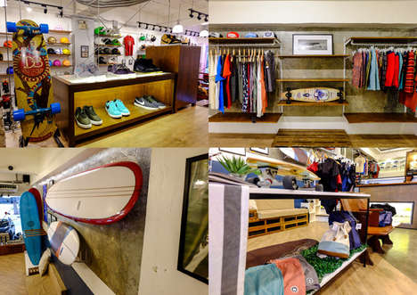 Experiential Surf Shops - This Casual Surf & Skate Shop Features an In-House Coffee Shop