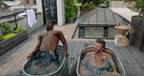 Athlete-Mimicking Commercials - David Beckham and Kevin Hart Star in This Comedic H&M Ad