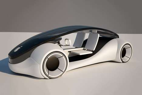 Autonomous Electric Cars - This Smart Car Concept is Apple's Anticipated Version of a Gas-Free Auto
