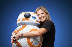 Plush Intergalactic Robot Toys - This Star Wars BB-8 Plush is a Cuddly Collector's Item